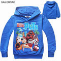 4-11Ages Spring autumn The Secret Life of Pets kids long sleeve t shirt clothing kids boy girls t shirts sweatshirts SAILEROAD