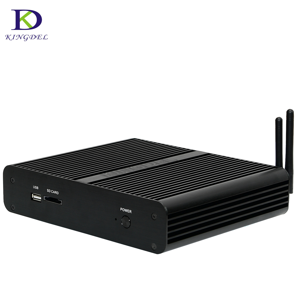 Kingdel Fanless Mini PC 6th Generation CPU I7 6500U/6600U Small Desktop Computer 1*DP 1*HDMI,USB 3.0 8GB RAM+512GB SSD