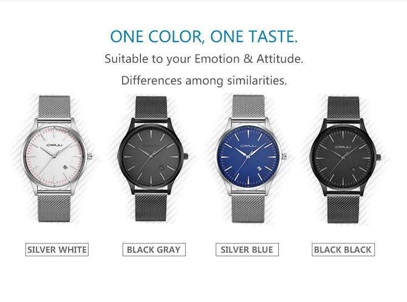 Topdudes.com - CRRJU Top Dude's Famous Luxury Black Quartz Relogio Masculino Wrist Watch with Calendar