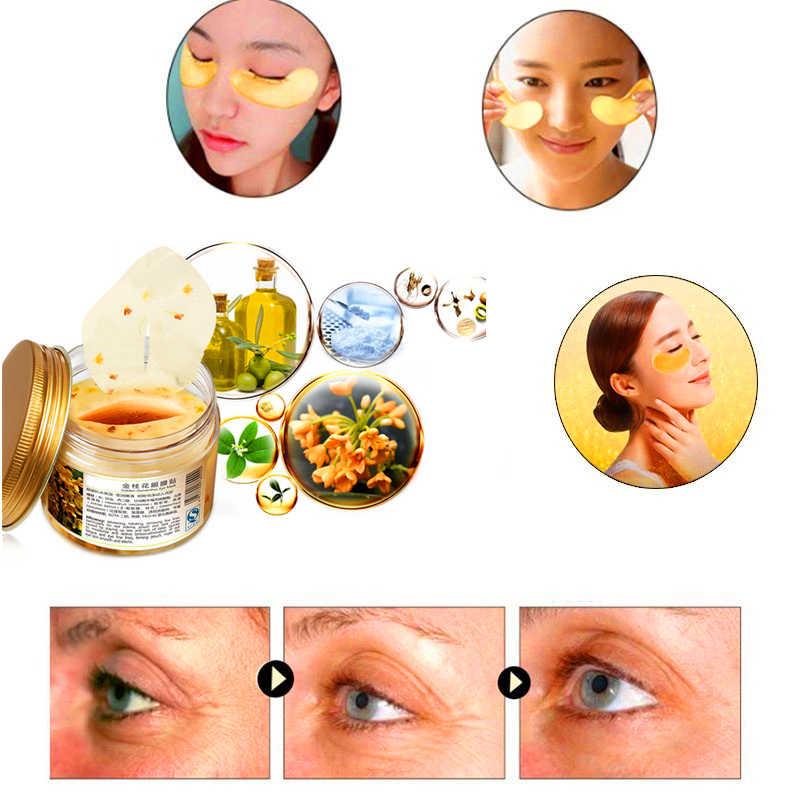 Olho profundo hidratar essência remendos para os olhos feminino gel de colágeno soro de leite proteína círculos escuros reparação essência pura máscara de olho vegetal
