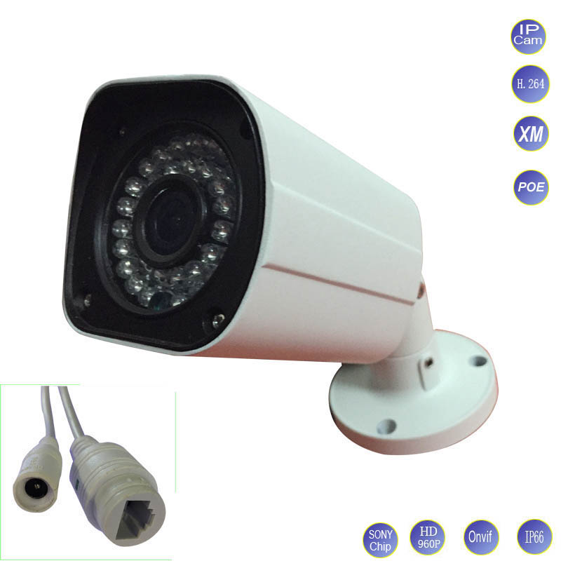 1.3MP 960P Network POE IP Camera Sony CMOS Bullet outdoor waterproof IR CUT Night Vision P2P ONVIF Family CCTV Surveillance Cam