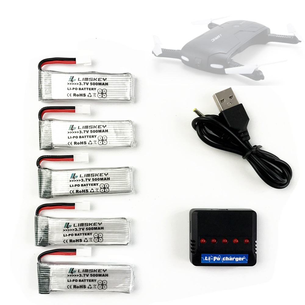 3.7v 500mah For RC Camera Drone Battery For JJRC H37 Eachina E50 RC Quacopter Spare Parts Accessories 3.7V Li-po Battery Charger