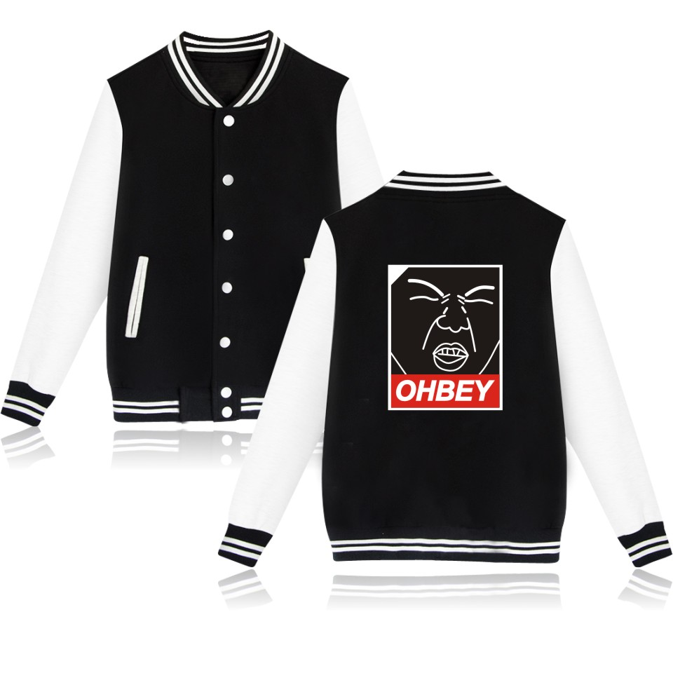 New Design EXO Printing Men Hoodies Harajuku Sweatshirt And EXO Womens Baseball Hoodies With Buttons Spring Style Ohbey XXS 4XL