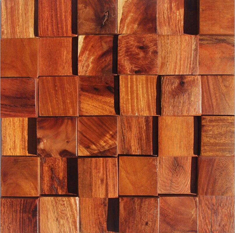 Fashion rose wood mosaic tile wall mounted mesh wall tiles for Tile fashion