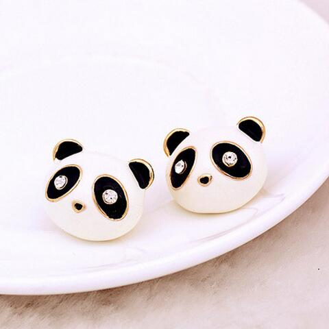 Cute Panda Bear Stud Earrings Cartoon Image For Women And S Fashion Ear Jewelry Free Shipping In From Accessories