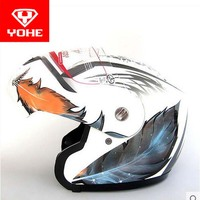 YOHE Undrape Face Motorcycle Helmet YH 936 ABS Open Face MOTO Motorbike Helmets Visor Is For