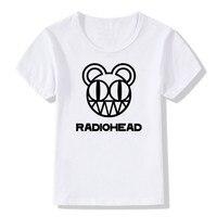 2017 Kids Print Radiohead Band Rock And Roll T Shirt O Neck Short Sleeve Summer Boy
