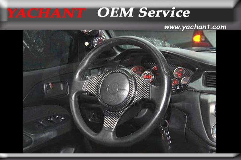 Carbon Fiber Interior Trim For 2001-2007 Mitsubishi Lancer Evolution EVO 7-9 EVO 7 EVO 8 EVO 9 Steering Wheel Spoke Cover