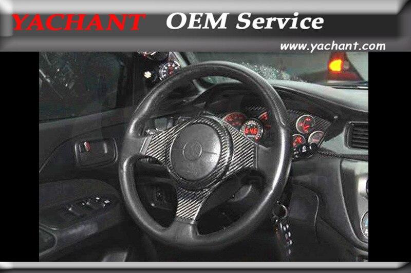 carbon fiber interior trim for 2001 2007 mitsubishi lancer evolution evo 7 9 evo