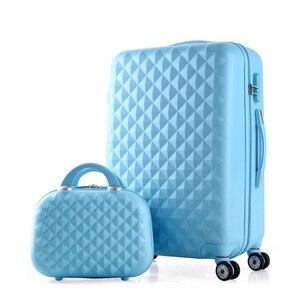 Image 3 - مجموعة حقائب سفر للبنات ترولي لطيفة من ABS حقيبة سفر رخيصة على عجلة