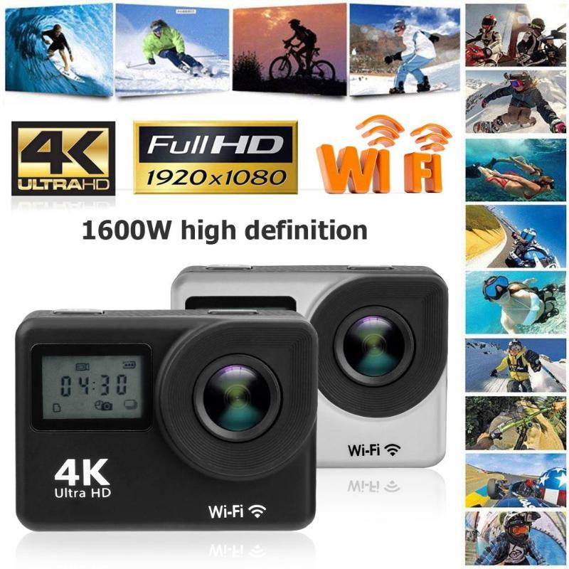 1Pcs Mini Camera Video DVR Waterproof Action Camera Dual Touch Screen WiFi HD 1080P 16MP 170 Degree Wide Angle Lens High Quality цена