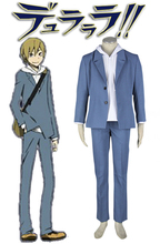 Free Shipping DuRaRaRa!! Masaomi Kida Suit Anime Cosplay Costume