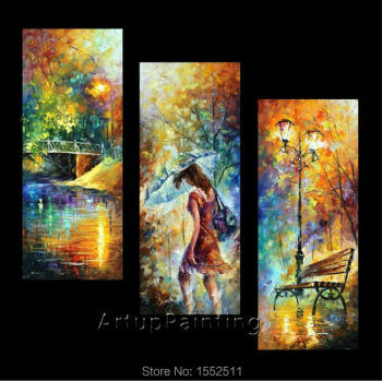 misty mood Oil painting Palette knife oil painting art knife oil painting on canvas hight Quality Hand-painted Painting 12