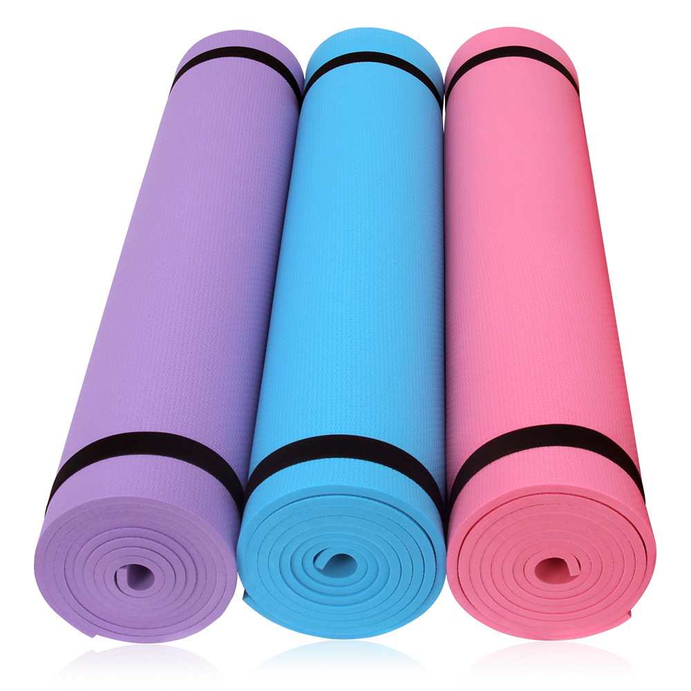 Premium 6MM Thick EVA Yoga Exercise Mat Fitness Aerobic Gym Pilates Camping Mat Non Slip With Carry Strap
