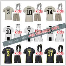 18 19 JUVE kids kit +socks JUVENTUSES RONALDO 2019 2018 kids boy kits  Soccer Jerseys kit Dybala Home Away Third Football Shirt 59261f42a