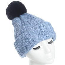 Lady Scarf hat Autumn Winter knitted warm Skiing caps Thickened winter ear protection Hat for Women