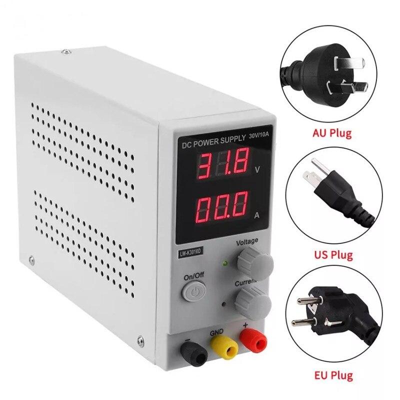 LW-K3010D 110 V-220 V 30 V 10A réglable LED affichage régulateur numérique DC alimentation à découpage ordinateur portable réparation reprise AU US EUPlug
