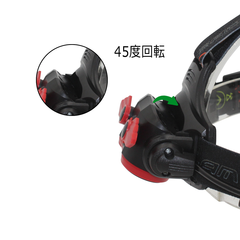 Rechargeable Headlight Zoom Headlamp Head Light Flashlight 2x XM-L T6 LED with 18650 Battery + USB Charging Cable