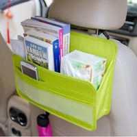 New Brand Design Green Color Multi Function Stowing Tidying Car With Rear Seat Hanging Storage Bag