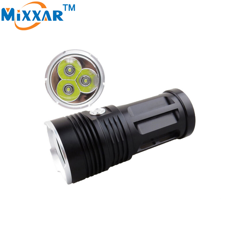 zk30 led flashlight MI-3 6000 lumen Camp Hunting Torch 3x Cree XM-L T6 tactical Lantern suitable 4x18650 battery 3800 lumens cree xm l t6 5 modes led tactical flashlight torch waterproof lamp torch hunting flash light lantern for camping z93