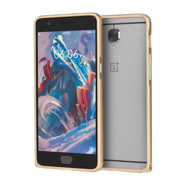 NEW Luxury hard metal Bumper Hippocampus buckle Case For oneplus 3t 3 one plus 3 t a3000 a3003 capa para Fundas