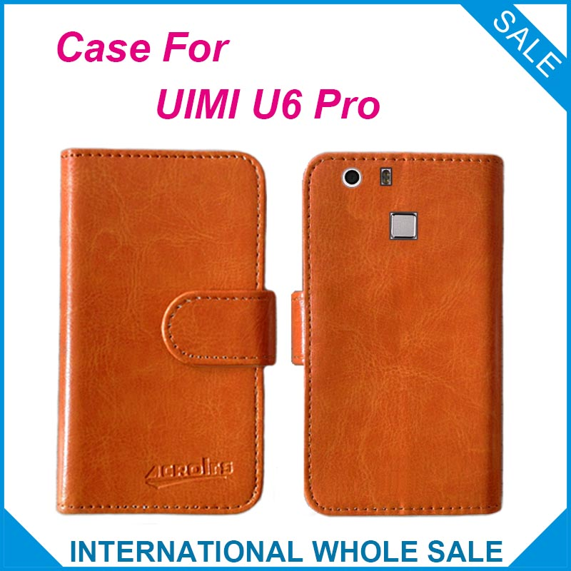 Hot!! 2016 UIMI U6 Pro Case, 6 Colors High Quality Leather Exclusive Cover For UIMI U6 Pro tracking number
