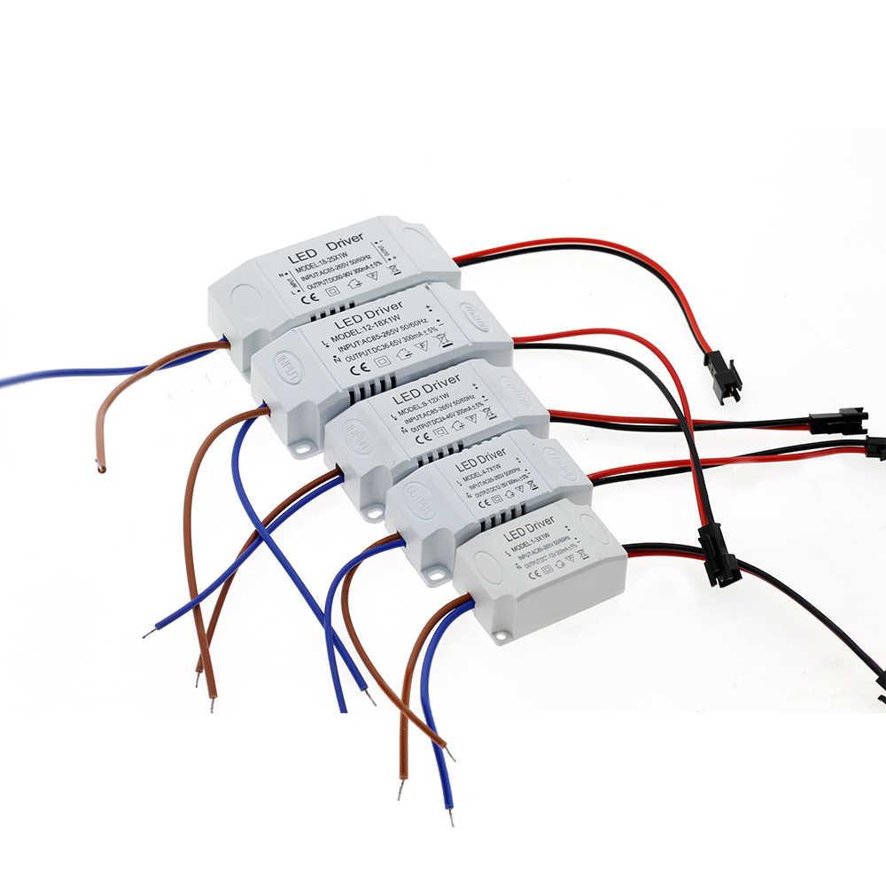 LED امدادات الطاقة 1 واط-36 واط 300mA سائق محول AC85-265V محول الإضاءة ل LED مصباح لوح النازل