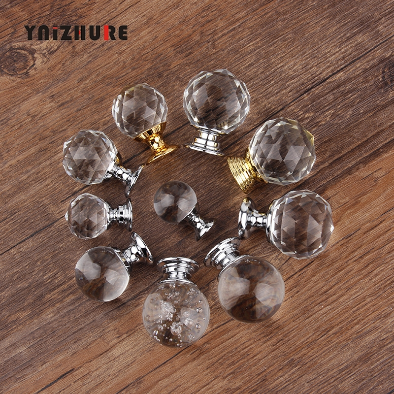 Hot 20/30mm Crystal glass ball Design Knobs Cupboard Pulls Drawer Knobs Kitchen Cabinet Handles Furniture Handle Hardware Knob купить в Москве 2019