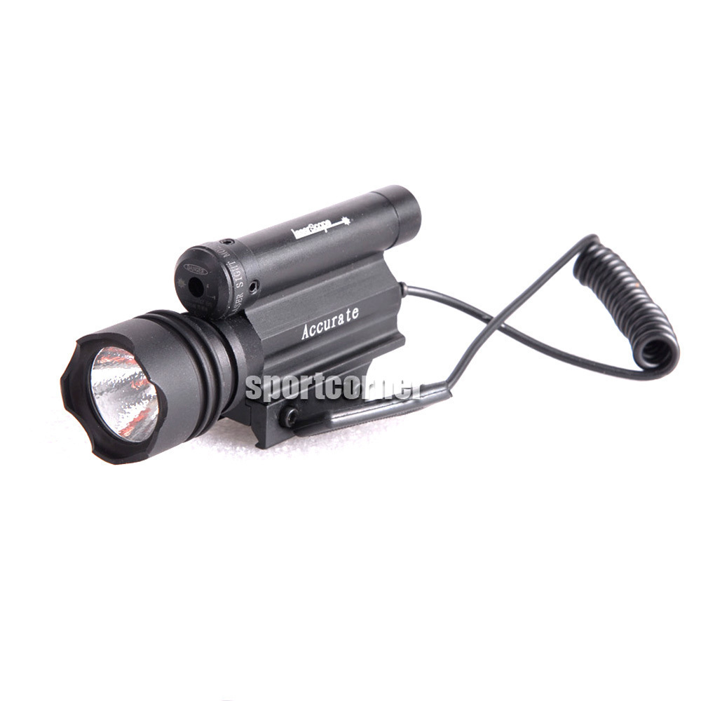 New metal Tactical Red Rifle Laser Dot Sight & G&P Xenon Torch w/ remote switch