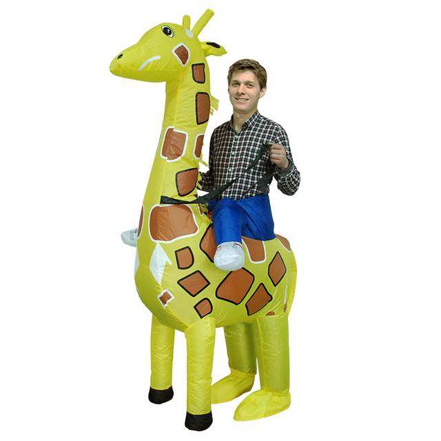 2018 hot halloween inflatable giraffe costumes for adult kid party cosplay costume to dress for man