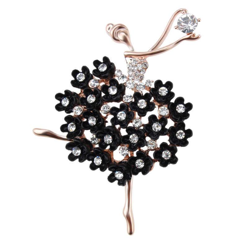 Vendita Diretta della fabbrica di Balletto Dancing Girl Shinning di Cristallo Spille per Le Donne Vestono Abiti Spilli Accessori Dei Monili in assortiti