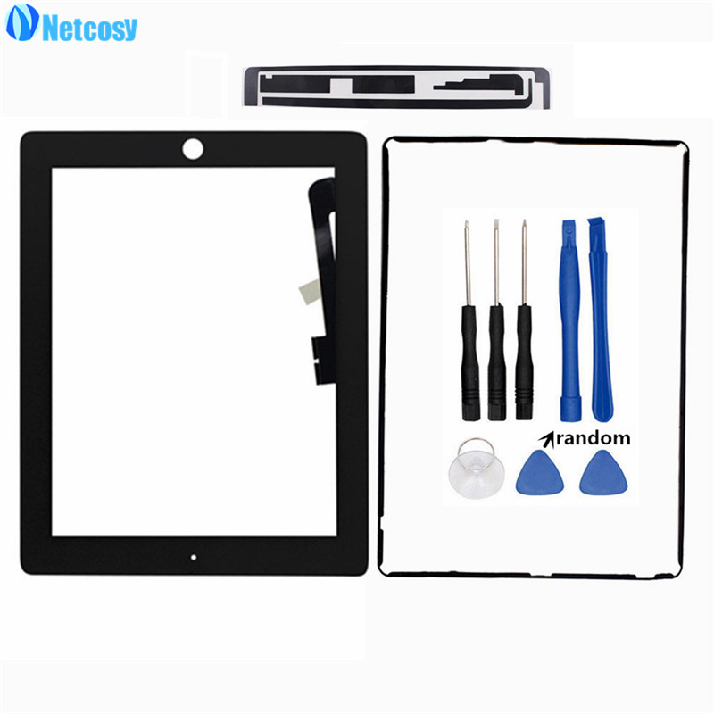 A1403 A1416 A1430 A1458 A1459 A1460 Touch Glass Screen Digitizer Panel For IPad 3 4 TouchScreen & Tape & Frame Adhesive & Tools