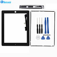 Netcosy 1 Set Touch Glass Screen Digitizer Panel For IPad 3 4 TouchScreen Touch Tape Frame