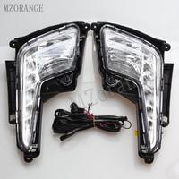 MZORANGE Daytime Running Light For Kia Rio K2 2011 2012 2013 2014 Car Accessories Waterproof ABS