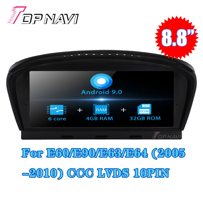 Topnavi 8.8 Android 9.0 Car Stereo Radio Player For BMW 3 Series 5 Series 5 Series E60 GPS Navigation Radio NO DVD Double Din