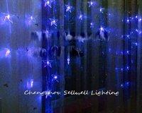 2020 apressado novas decorações de natal navidad ótimo! festival luz decoração do hotel 56 pçs cinco pontas do grânulo cortina lâmpada h326