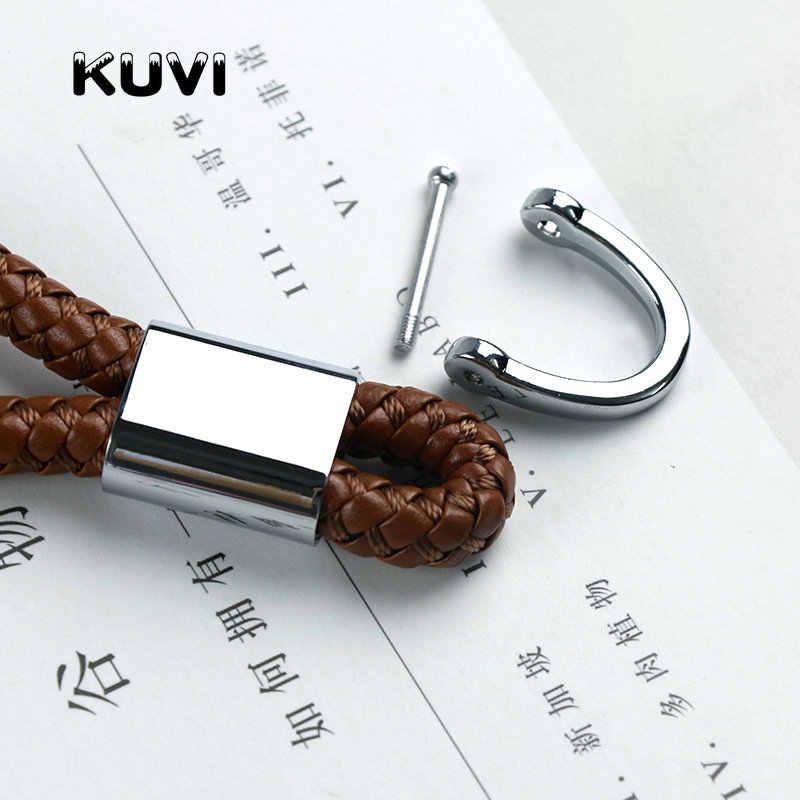 Gantungan Kunci Mobil Mencakup Leather Universal untuk Audi Toyota BMW Kia Ford Mazda Auto Barang Interior Aksesoris Gantungan Kunci