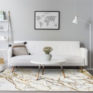 Image 2 - Модный Европейский стиль, имитация белого золота, мраморный ковер, бархатный ковер для спальни, индивидуальный кухонный коврик для гостиной, нескользящий ковер