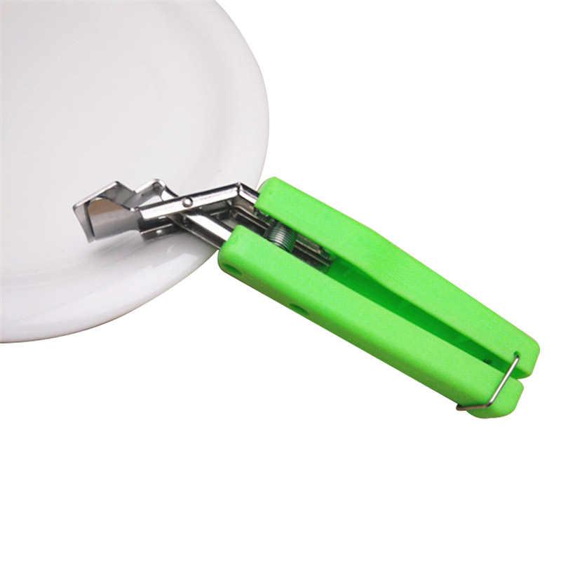 Recipiente caliente pinza para platos olla pinza de sujeción plato caliente tazón Clip Retriever pinzas silicona mango cocina herramienta