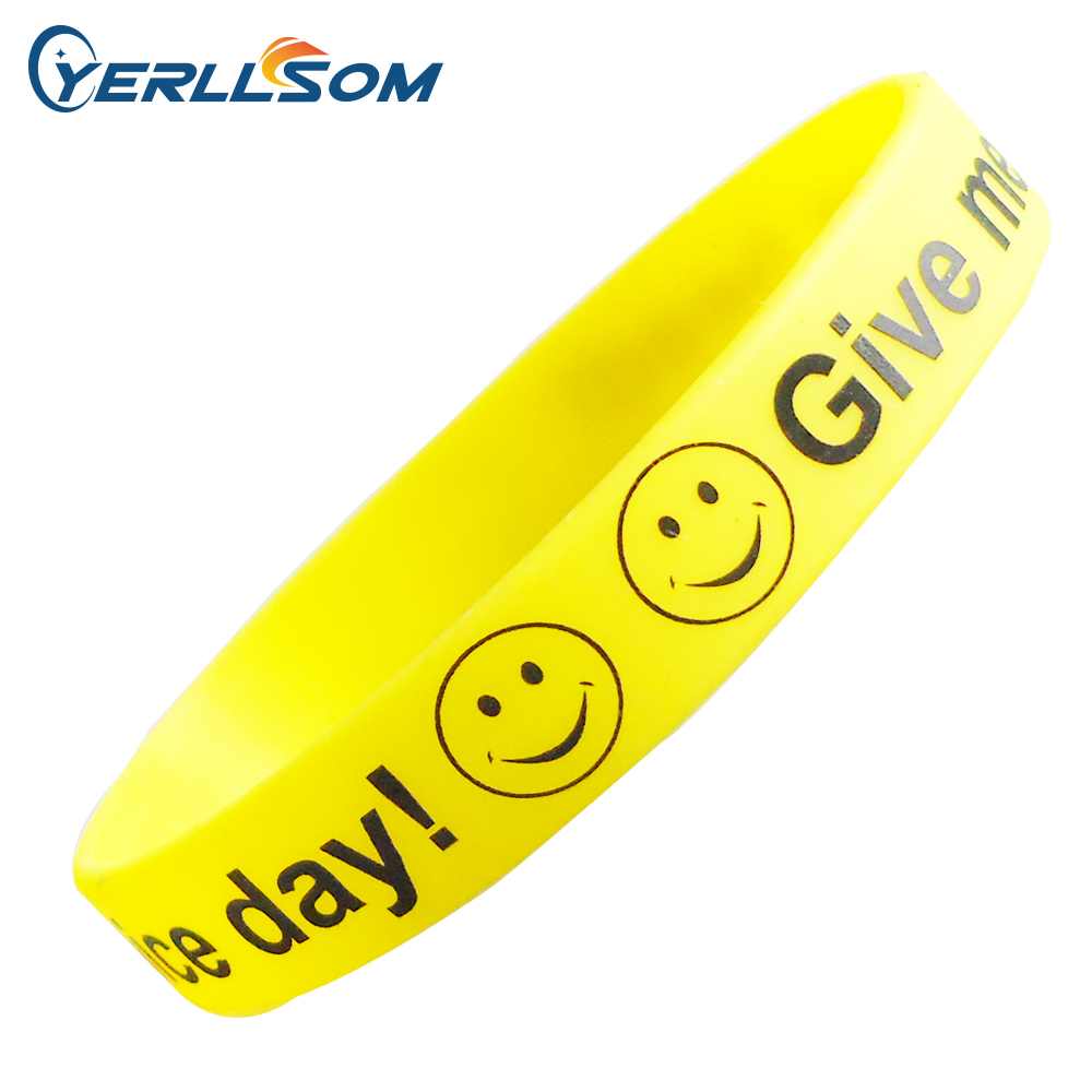 YERLLSOM 250pcs Lot free shipping High Quality Custom personalized printing silicone bracelets for events Y070101