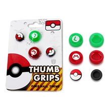 лучшая цена 4pcs Thumb Stick Grips Analog Caps For Nintend Switch NS Joy-Con Controller Soft Silicone Poke Ball Button Cap Cover Accessories
