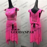 New Arrival Latin Dance Dress Rumba Jive Chacha Dance Wear Latin Dress Tango Salsa Samba Sleeveless