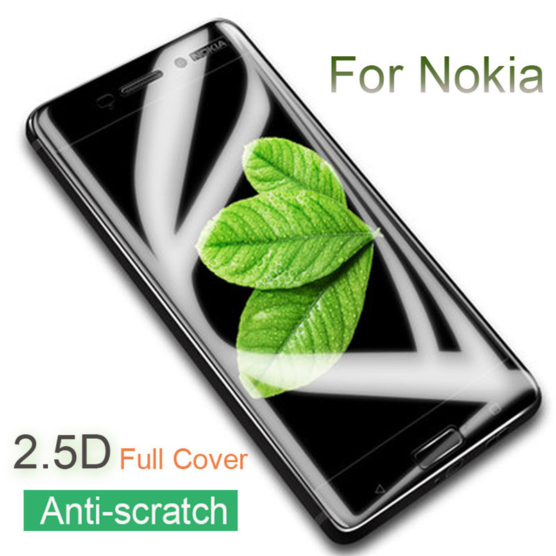 2. 5D Full Cover Tempered Glass For Nokia 8 7 Plus 6 2018 5 3 2 Full Film For Nokia 6.1 Plus X6 X5 5.1 3.1 2.1 Screen Protector nokia 8 new 2018