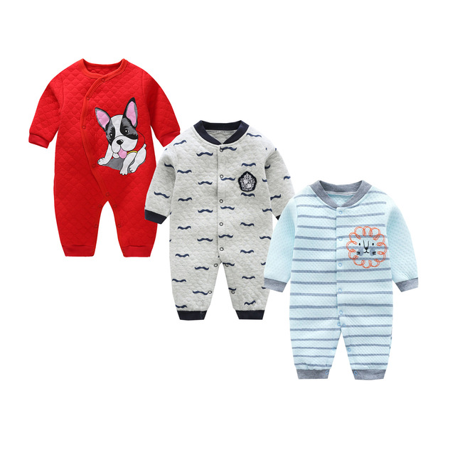 cb7d2f05863c Baby clothes thick warm newborn baby underwear toddler girl pajamas ...