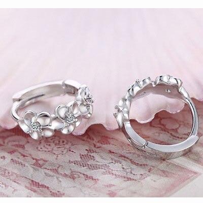 Top Sale 925 Sterling Zilver Oorbel Geweven Bloemen Vorm Oorringen - Fijne sieraden - Foto 2