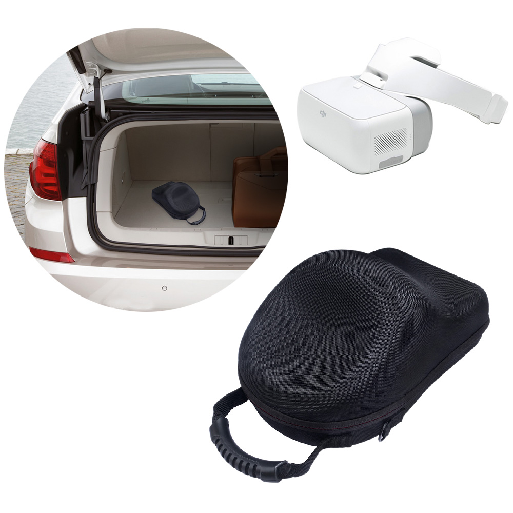 Купить с кэшбэком Hard Storage Travel Carrying Box Cover Bag Case for DJI Goggles Immersive FPV VR Double HD Screens Drone Accessories-With Belt