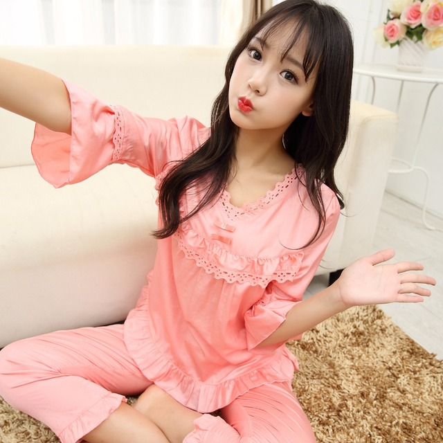 ecd0fea7a0 Women Sexy Silk Satin Pajama Sleeveless Pyjama Femme Round Neck Pijama Set  Plus Size Sleepwear Nightwear Summer Indoor Clothing