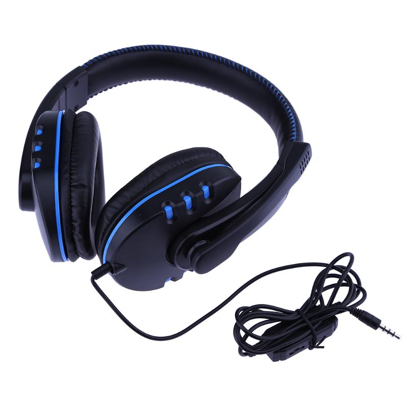 ALLOYSEED Gaming Headphone Portable Audition 3.5mm Wired Moving Coil Gaming Headphone with Rotatable Mic for Sony PS4