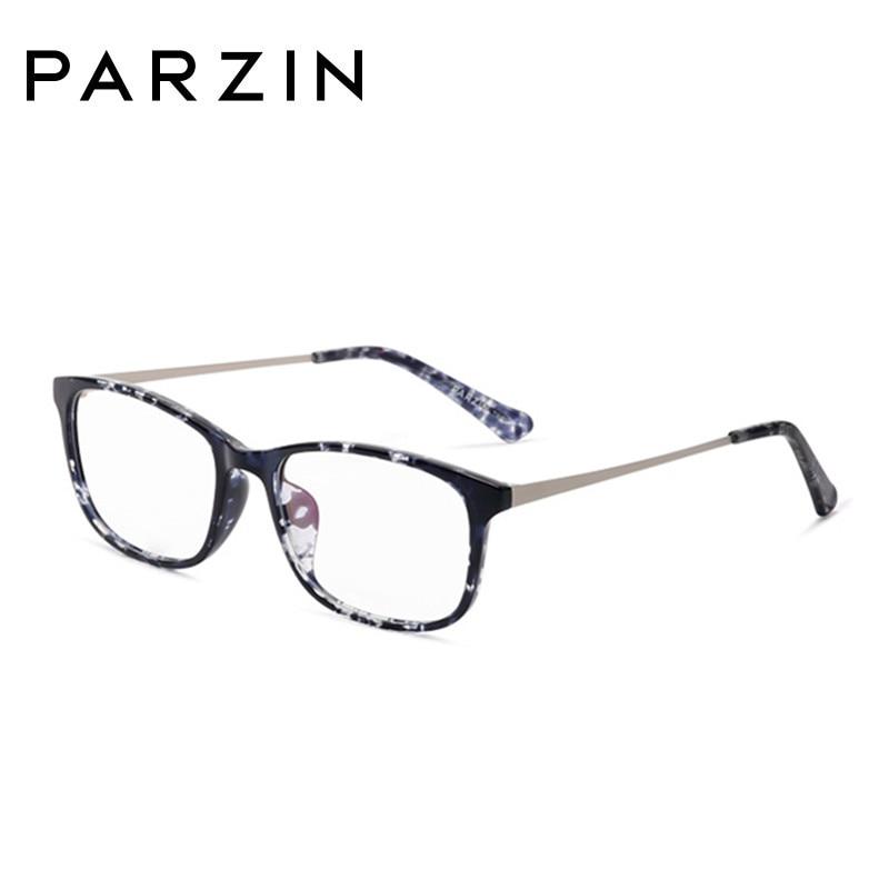 Parzin mode lunettes cadres femmes lunettes cadre Tr 90 ordinateur optique clair lentilles lecture lunettes noir avec étui 5055 - 5