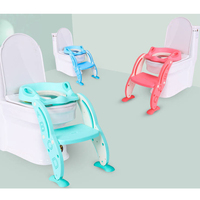 Toilet Seat Folding Potty Trainer Chair Step with Adjustable Ladder infant potty for children baby step stool